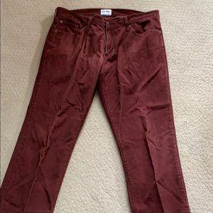 Men's Old Navy dark red corduroy pants